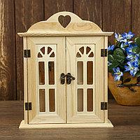 Ключница Дверь с витражными вставками