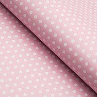 Бумага упаковочная глянцевая, горох мелкий, 49 х 70 см. Розовая