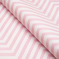 Бумага упаковочная глянцевая, зигзаг, 49 х 70 см. Розовая