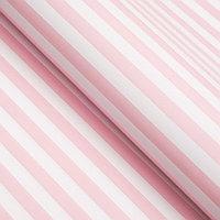 Бумага упаковочная глянцевая, полоски, 49 х 70 см. Розовая