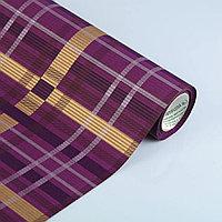 Бумага упаковочная крафт Клетка, фиолетовый, 50 см х 1 м