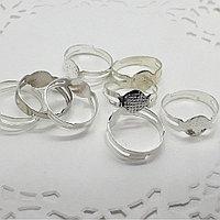 Основа для колец, цвет: серебро.