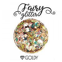 Декоративные хлопья Fairy Glitter, Goldy, 15гр.
