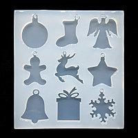 Сборный силиконовый молд Набор новогодних игрушек