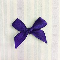 Атласный бантик, фиолетовый