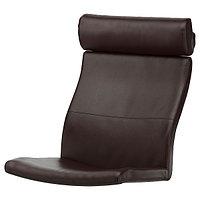 POÄNG ПОЭНГ Подушка-сиденье на кресло, Глосе темно-коричневый