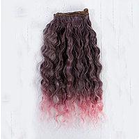 Волосы для кукол Волны-шоколадный мусс 25см.