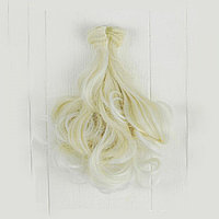 Волосы для кукол Завитки-белый цветок 15см.