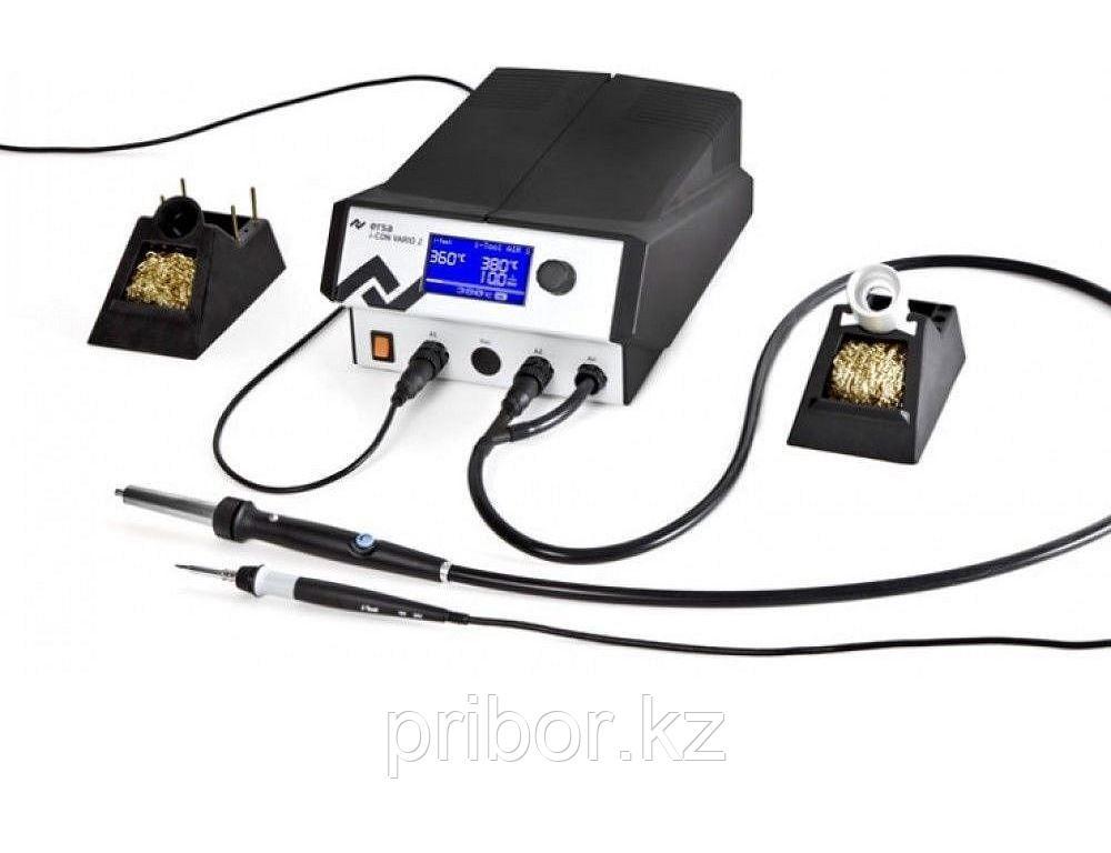 ERSA i-CON VARIO 2 Антистатическая 2-х канальная паяльная станция с паяльником i-TOOL и феном i-TOOL AIR S