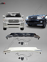 Передняя юбка URBAN SPORT c DRL 070 на Toyota Land Cruiser 200 2012-2015гг.