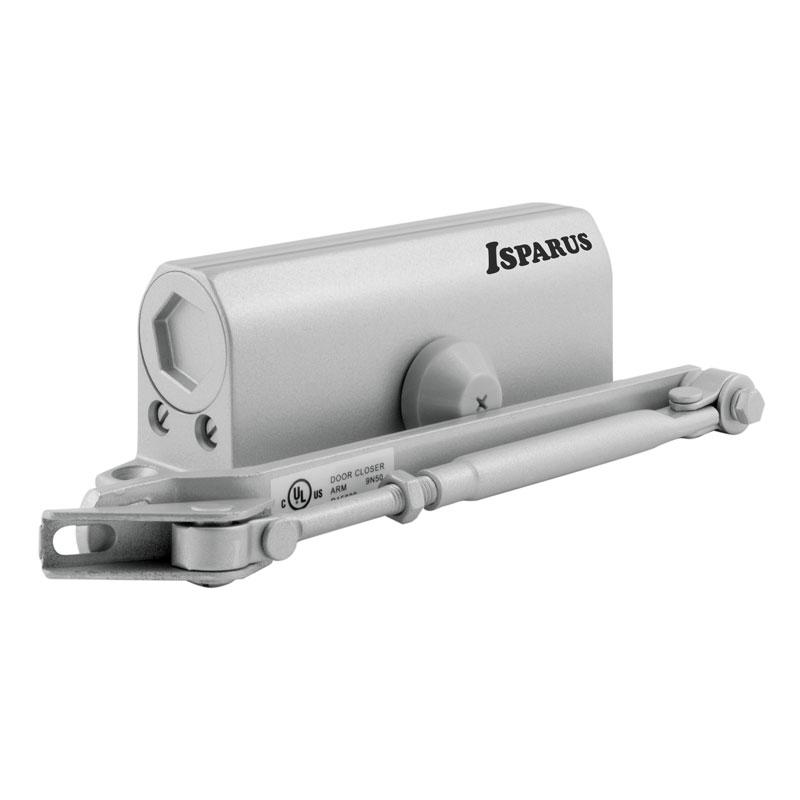 Доводчик НОРА-М 430 ISPARUS (от 50 до 110кг) (серебро) морозостойкий