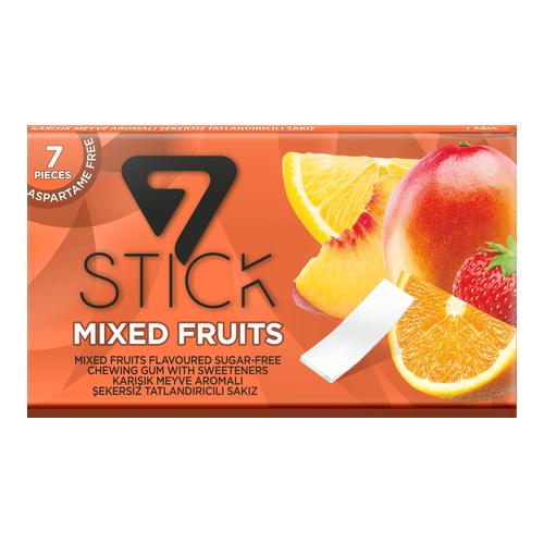 Жевательная резинка 7STICK MIXED FRUIT TROPICAL шт