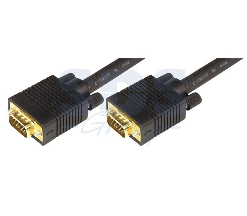 Шнур 17-5506 VGA plug - VGA plug 5м Gold с ферритами Rexant