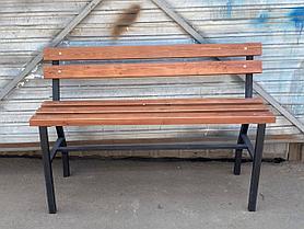 Скамейка уличная со спинкой БС-2