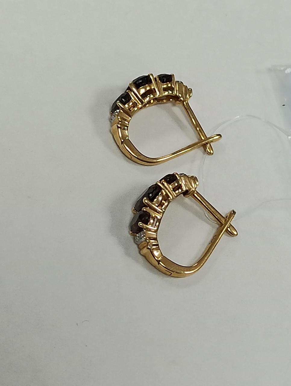 Золотой комплект с бриллиантами и раухтопазом - фото 2
