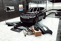 Рестайлинг комплект на Range Rover Vogue L405 2013-2017 под 2018+ Передняя оптика 4-х линзованная Pixel Plus