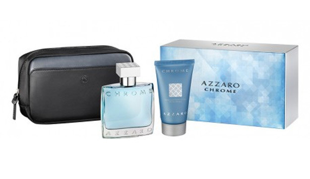 Azzaro Chrome Gift Set edt 50ml+ shower gel 50ml+ pouch
