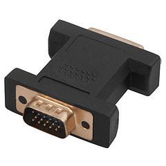 Переходник 17-6808-01 штекер HD (15 Pin VGA)гнездо DVI-D, пласик позолоченый REXANT (Блистер D)Переходник