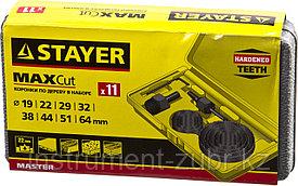 """Набор STAYER """"MASTER"""": Коронки по дереву, d=11, 22, 29, 32, 35, 38, 44, 51, 64мм, 11шт"""