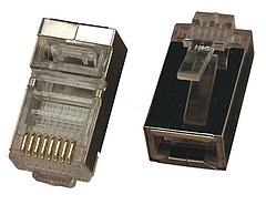 Джек телефонный 8P-8C кат5 с экраном 2шт. (Блистер F)