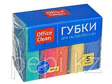 "Губка для мытья посуды  OfficeClean ""Maxi"", 5 штук"