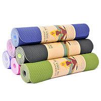 Экологичный коврик для йоги и фитнеса из термополиуретана 8 мм, TPE
