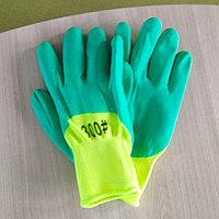 Строительные перчатки зеленый 300#