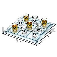 Застольная игра в крестики нолики Tic Tac Toe 25 на 25 см