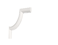 Декоративный уголок из дюрополимера Decor-Dizayn
