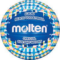 "Мяч вол. пляжн. ""MOLTEN V5B1300-CB"" р.5, мат. синт.кожа ПВХ, маш.сш, бут.кам,сине-голубо-бел-желт"