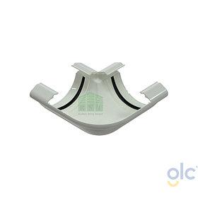 Угол желоба 90° GLC (универсальный, белый)