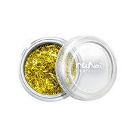 RuNail, дизайн для ногтей: стружка (золотой)