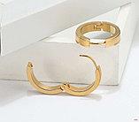 Серьги двусторонние '' Золотые кольца'' позолота, фото 3
