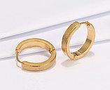 Серьги двусторонние '' Золотые кольца'' позолота, фото 4
