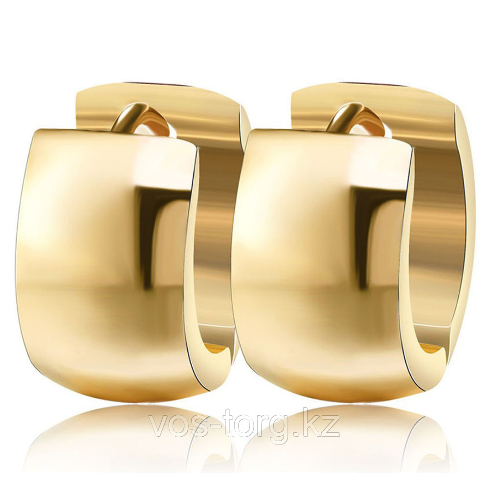 Серьги двусторонние '' Золотые кольца'' позолота 6 мм