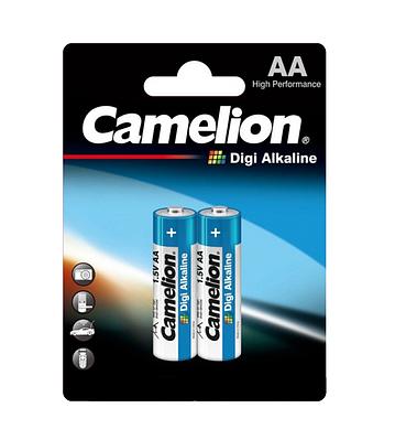 Батарейки Camelion AA (LR6-BP2DG), Digi alkaline, комплект - 2 штуки