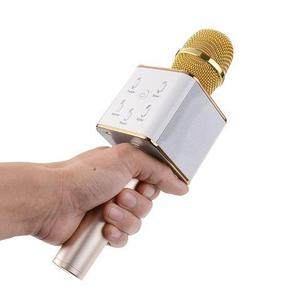 Караоке-микрофон беспроводной TUXUN Q7 со встроенной bluetooth-колонкой (Золотой)