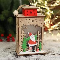 Фигурка новогодняя свет 'Дед Мороз под звёздным небом' 11х18,5 см