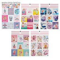 Набор наклеек бумажных «Для девочек», 11× 15,5 см, 10 листов