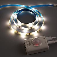 Комплект светодиодной ленты Uniel, 220В, SMD3528, 1м, IP65, датчик движ., 30 LED/м, 4000К