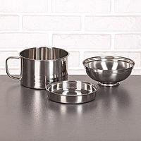Набор посуды 'Турист' 3 шт кружка 1,35 л, миска 650 мл, тарелка 300 мл