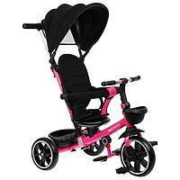 """Велосипед трехколесный Micio Veloce +, колеса EVA 10""""/8"""", цвет розовый"""