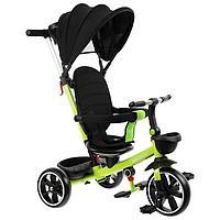"""Велосипед трехколесный Micio Veloce +,колеса EVA 10""""/8"""", цвет салатовый"""
