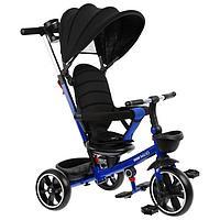 """Велосипед трехколесный Micio Veloce +, колёса EVA 10""""/8"""", цвет тёмно-синий"""