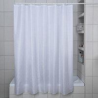 Штора для ванной комнаты 'Бриллиант', 180x180 см, полиэстер, цвет белый