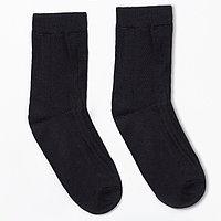 Носки мужские тёплые, цвет чёрный, размер 27