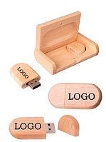 ЭКО флешки с нанесением лого