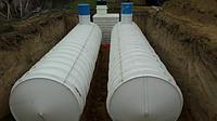 Емкость V=12 куб, резервуар для воды цилиндрический из полипропилена