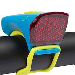 Фонарь передний Cube Red LED Gray/Blue