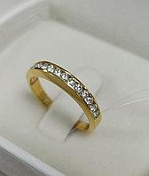 Золотое кольцо с бриллиантами / 18 размер